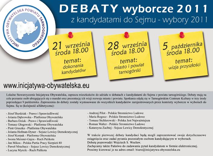 debaty wyborcze 2011